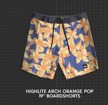 "Highlite Arch Orange Pop 19"" Boardshorts"