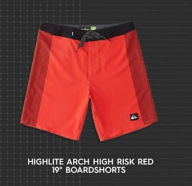 """Highlite Arch High Risk Red 19"""" Boardshorts"""